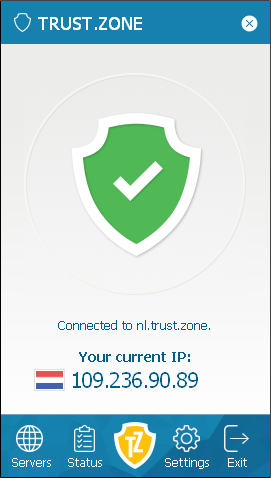 Cliente de Trust.Zone VPN para Windows