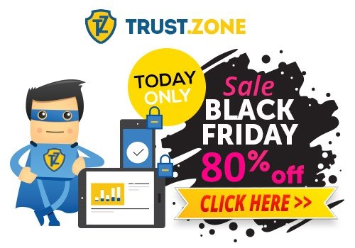 Black Friday Sale on Trust.Zone VPN - 80% off started