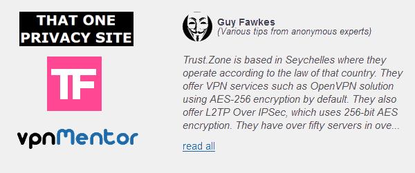 Trust.Zone VPN is in the List of the Best VPNs of 2016