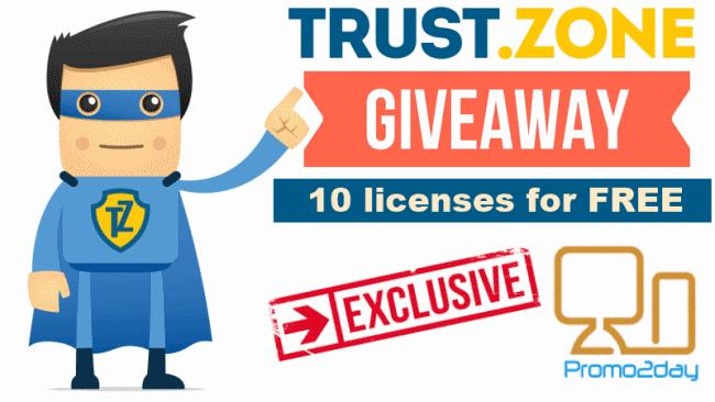 Trust.Zone gave away 10 premium licences for free