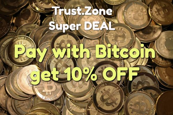Pay with Crypto - get 10% OFF for Trust.Zone VPN