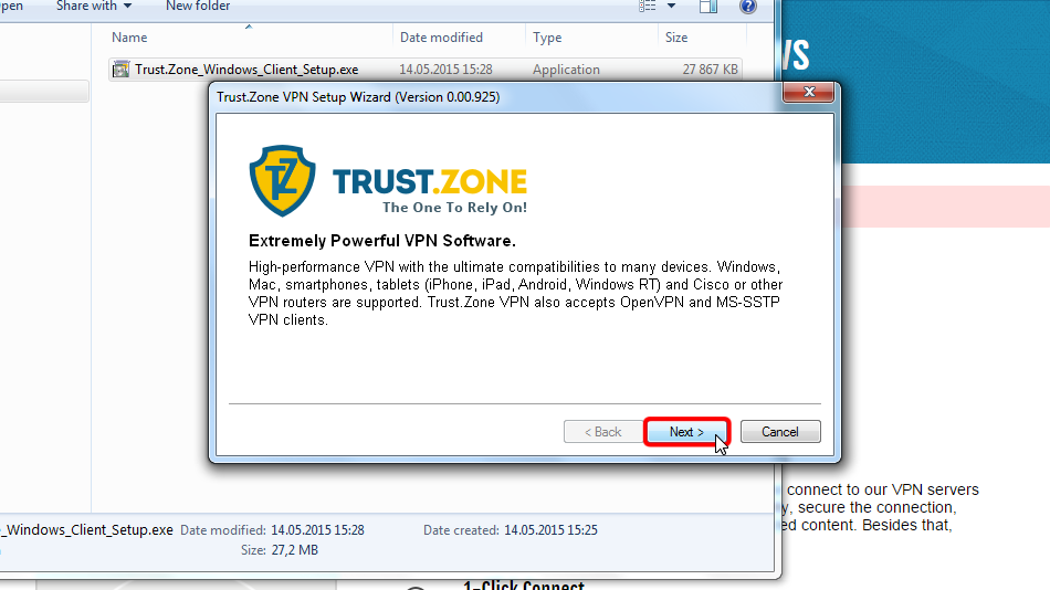 How to Set up a VPN for Windows 7  Trust Zone VPN Manual  Trust Zone
